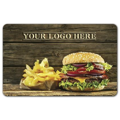 Hamburger Gift Card, 3 3/8 x 2 1/8""