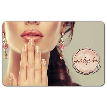 Lady and Nails Gift Card, 3 3/8 x 2 1/8