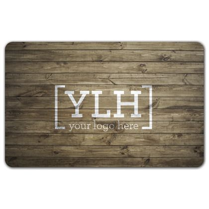 Light Wood Grain Gift Card, 3 3/8 x 2 1/8""