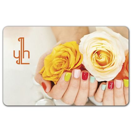 """Nails and Flowers Gift Card, 3 3/8 x 2 1/8"""""""
