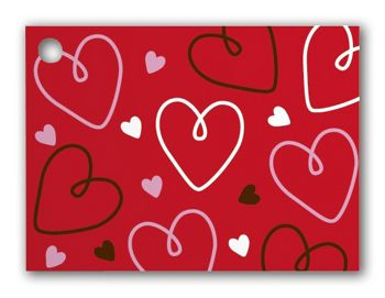 Doodle Hearts Gift Tags, 3 3/4 x 2 3/4