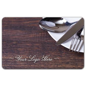 Dinner Plate Gift Card, 3 3/8 x 2 1/8