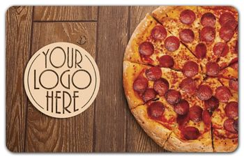 Pizza Gift Card, 3 3/8 x 2 1/8