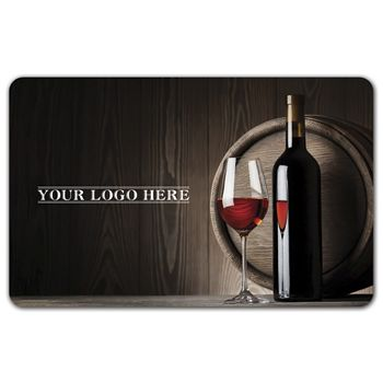 Red Wine Gift Card, 3 3/8 x 2 1/8