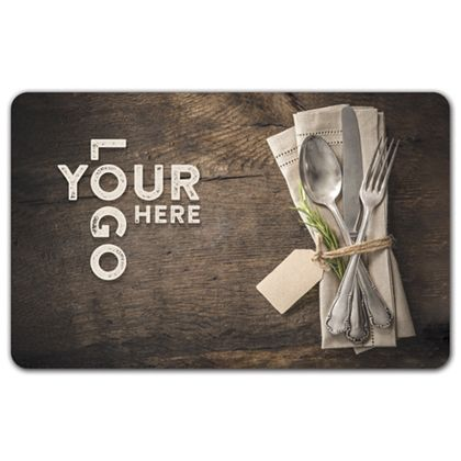 "Silverware Gift Card, 3 3/8 x 2 1/8"""