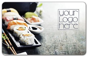 Sushi Gift Card, 3 3/8 x 2 1/8