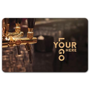 Tap Gift Card, 3 3/8 x 2 1/8