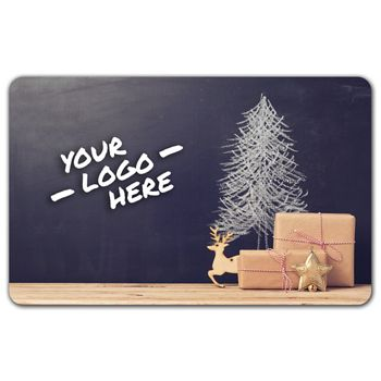 Holiday Tree and Deer Gift Card, 3 3/8 x 2 1/8