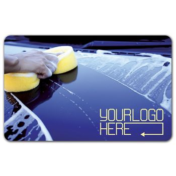 Car Wash Gift Card, 3 3/8 x 2 1/8