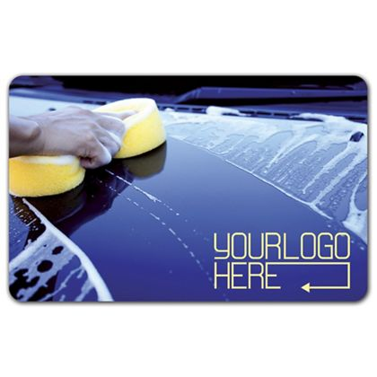 Car Wash Gift Card, 3 3/8 x 2 1/8""