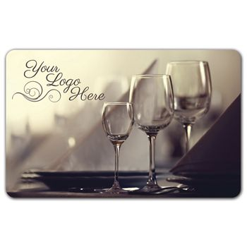 Wine Glasses Gift Card, 3 3/8 x 2 1/8