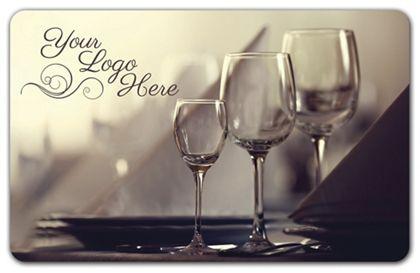 "Wine Glasses Gift Card, 3 3/8 x 2 1/8"""