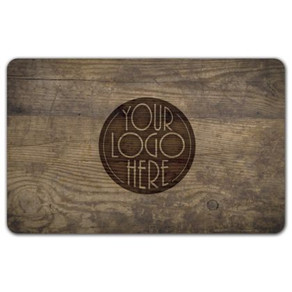 Wood Grain Gift Card, 3 3/8 x 2 1/8""
