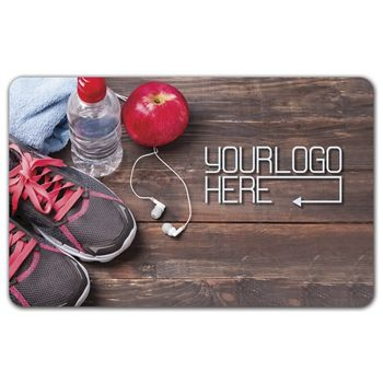 Work Out Gift Card, 3 3/8 x 2 1/8