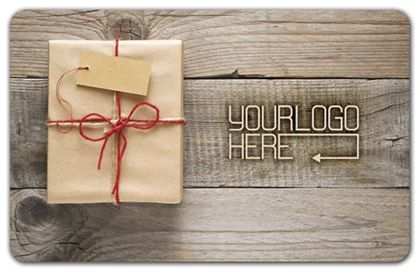 """Wrapped Gift Card, 3 3/8 x 2 1/8"""""""