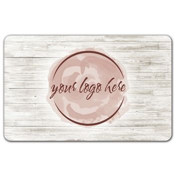 White Wood Gift Card, 3 3/8 x 2 1/8
