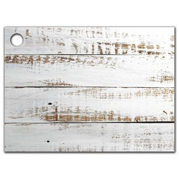 Distressed White Wood Gift Tags, 3 3/4 x 2 3/4