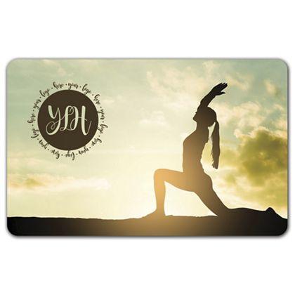 """Yoga Gift Card, 3 3/8 x 2 1/8"""""""
