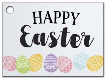 Happy Easter Bunny Gift Tags, 3 3/4 x 2 3/4