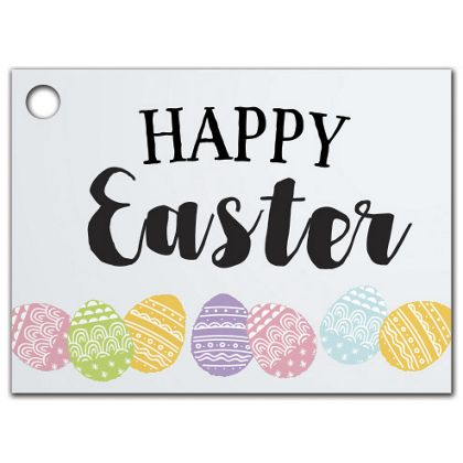 """Happy Easter Bunny Gift Tags, 3 3/4 x 2 3/4"""""""