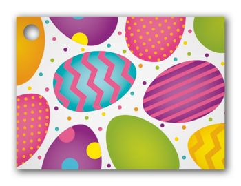 Easter Eggs Gift Tags, 3 3/4 x 2 3/4