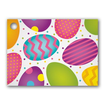 """Easter Eggs Gift Tags, 3 3/4 x 2 3/4"""""""