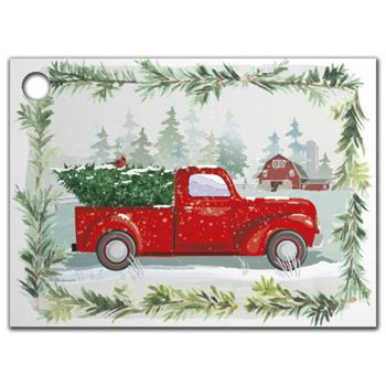 Farmhouse Christmas Gift Tags, 3 3/4 x 2 3/4