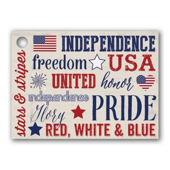 Patriotic Expressions Gift Tags, 3 3/4 x 2 3/4