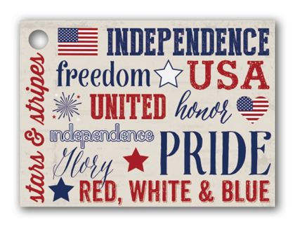 """Patriotic Expressions Gift Tags, 3 3/4 x 2 3/4"""""""