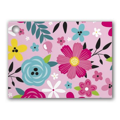 Pink Floral Gift Tags, 3 3/4 x 2 3/4""