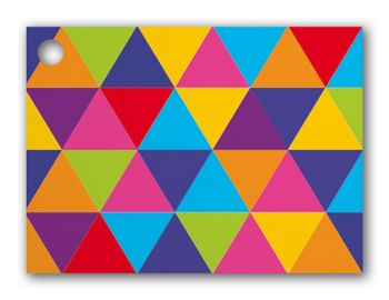 Geo Triangles Gift Cards, 3 3/4 x 2 3/4