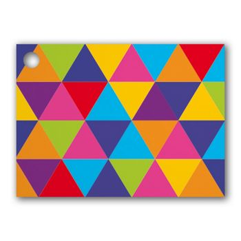 Geo Triangles Gift Tags, 3 3/4 x 2 3/4