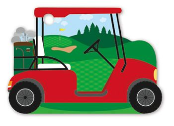 Golf Cart Intricut Gift Cards, 3 3/4 x 2 3/4