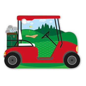 Golf Cart Intricut Gift Tags, 3 3/4 x 2 3/4