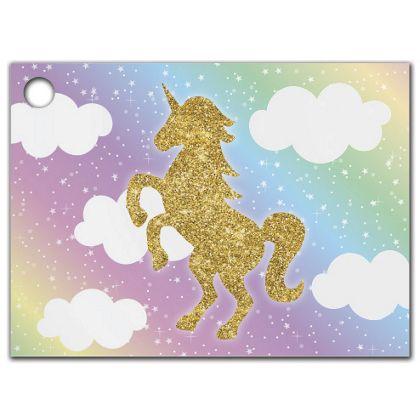 """Glitter Unicorn Gift Tags, 3 3/4 x 2 3/4"""""""