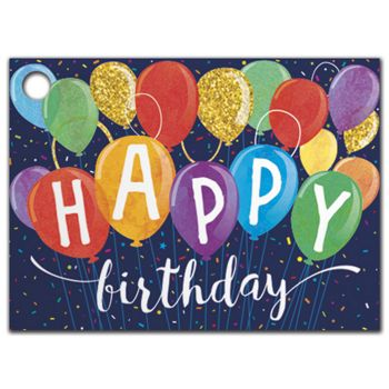 Happy Birthday Balloons Gift Tags, 3 3/4 x 2 3/4
