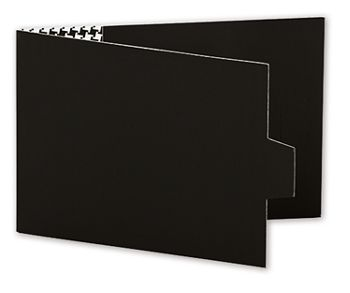 Black Swiss Billfold Gift Card Holders, 4 7/8 x 3 1/2
