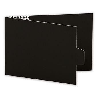 Black Swiss Billfold Gift Card Holders, 4 7/8 x 3 1/2