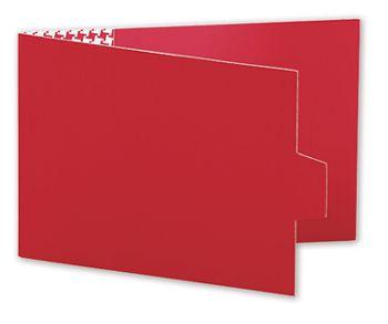 Red Swiss Billfold Gift Card Holders, 4 7/8 x 3 1/2