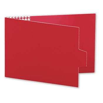 Red Swiss Billfold Gift Card Holders, 4 7/8 x 3 1/2