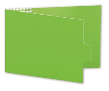Green Swiss Billfold Gift Card Holders, 4 7/8 x 3 1/2