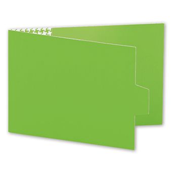 Green Swiss Billfold Gift Card Holders, 4 7/8 x 3 1/2