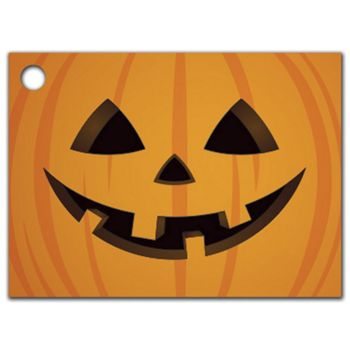 Halloween Pumpkin Gift Tags, 3 3/4 x 2 3/4