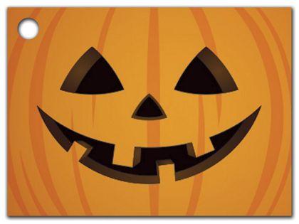 "Halloween Pumpkin Gift Tags, 3 3/4 x 2 3/4"""