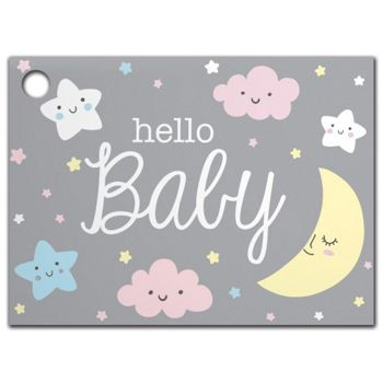 """Hello Baby Gift Tags, 3 3/4 x 2 3/4"""""""