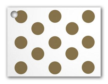 Metallic Gold Dots Gift Cards, 3 3/4 x 2 3/4