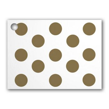 Metallic Gold Dots Gift Tags, 3 3/4 x 2 3/4