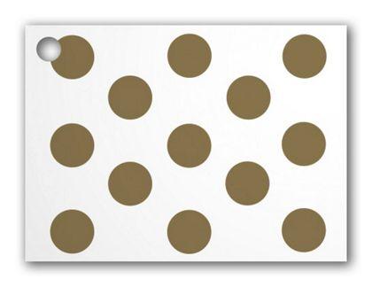 "Metallic Gold Dots Gift Tags, 3 3/4 x 2 3/4"""