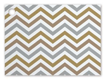 Metallic Chevron Gift Cards, 3 3/4 x 2 3/4