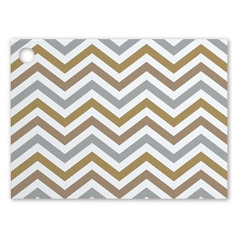 Metallic Chevron Gift Tags, 3 3/4 x 2 3/4